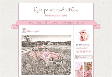 blog themes free tumblr cute blogger template rice paper and ribbon premade blog