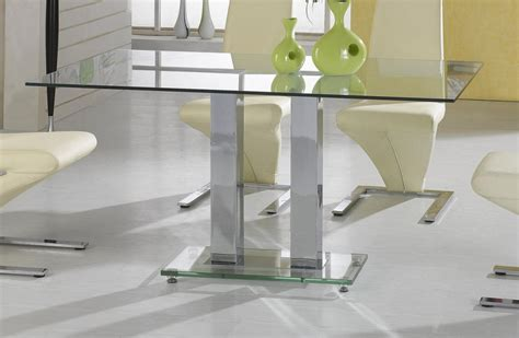 heartlands ankara glass and chrome dining table large