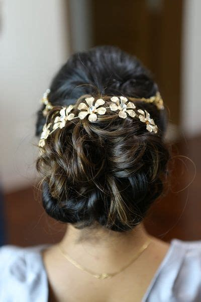 Indian Wedding Hairstyles Buns by Wedding Ideas Inspiration Floral Hair Indian Bridal