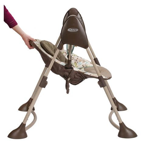 reclining baby swing graco swing by me portable 2 in 1 swing little hoot ebay