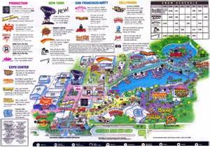 Map Of Universal Studios Orlando by Theme Park Brochures Universal Studios Florida Theme