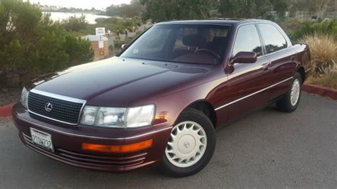 lexus ls sedan 1990 burgundy for sale jt8uf11e6l0036391