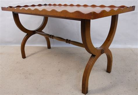 regency style yew coffee table