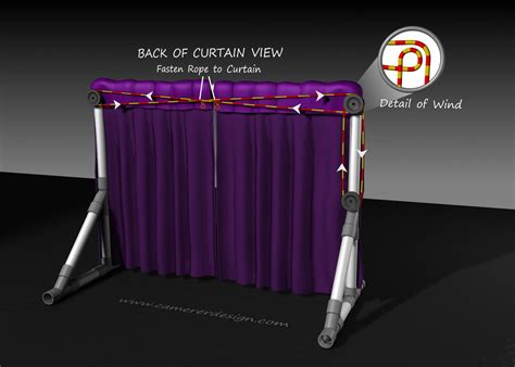 pulley curtains how to make a pvc stage curtain and pulley display ideas