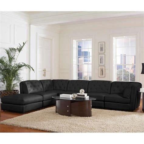 leather modular sectional coaster quinn transitional modular leather sectional sofa