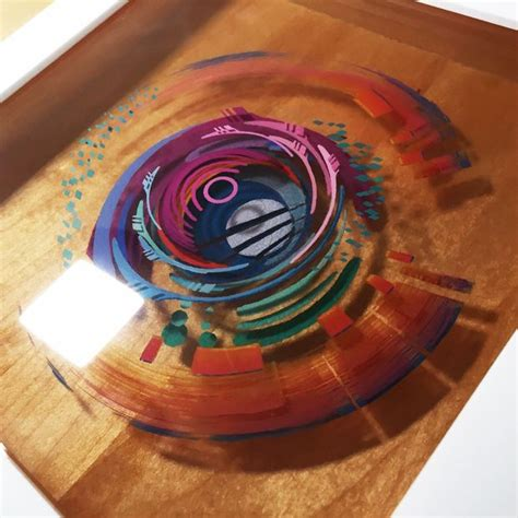 acrylic painting layers 3d painting layered resin and acrylic paint