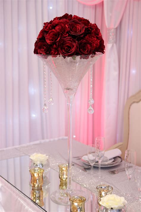 martini rose martini vase with rose dome beyond expectations weddings