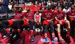 nba all star bench kobe bryant is main attraction in nba all star game as