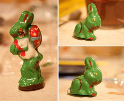 chocolate zombie easter bunnies