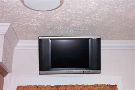 tv window mount retrofit 15 hd tv in kitchen on articulating arm mount this install was over the window on