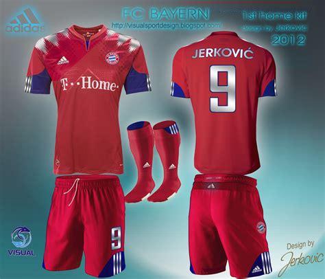 Design Custom Bayern Munchen 004 visual football kit design fc bayern munchen adidas