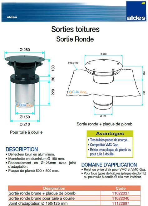 Sortie Vmc Toiture Tuile by Aldes Sortie Toiture Ronde Pour Installation De Vmc