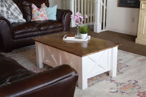 coffee table that opens for storage how to build a farmhouse coffee table with storage free