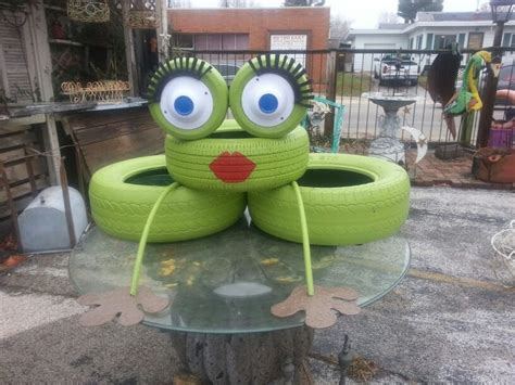 Ladybug Garden Decoration Juego by Best 25 Tire Frog Ideas On Reuse Tires
