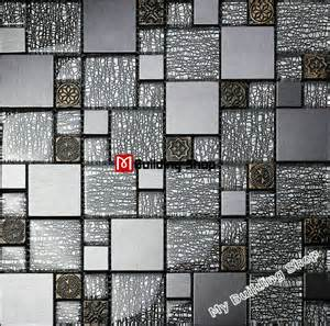 wall tiles kitchen backsplash ssmt resin mosaic aluminum metal diamonds tile diamond glass for