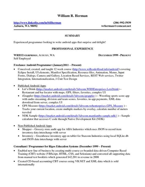 Sle Resume Self Employed Business Owner Home Resume And Business On