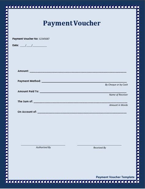 payment voucher template professional templates pinterest