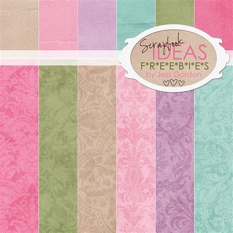 Printable Patterned Paper Card