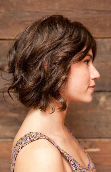 short layered hair styles with soft waves the fascinate curly bob hairstyles best medium hairstyle