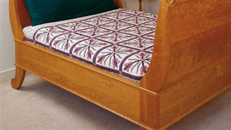 build  sleigh bed finewoodworking