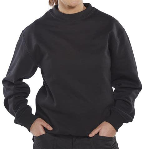 Sweatshirt Workwear Black clpcs click polycotton sweatshirt black beeswift workwear hi viz and ppe uk