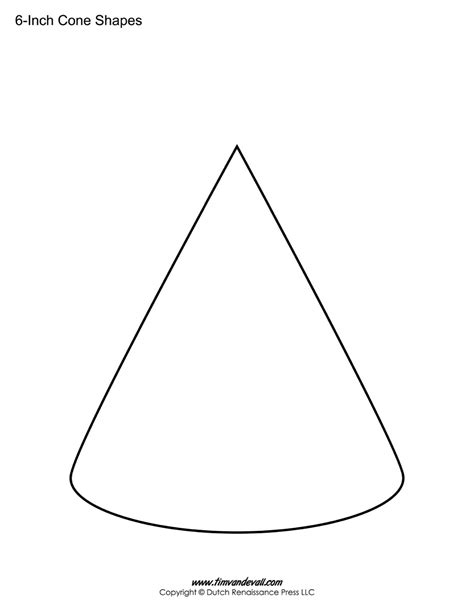 cone templates free printable cone shape pdfs