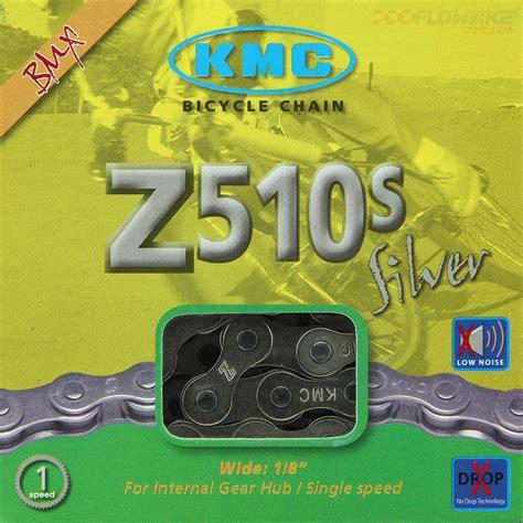 cadena kmc ultra cadena kmc z510s silver bmx color plata para 1 velocidad