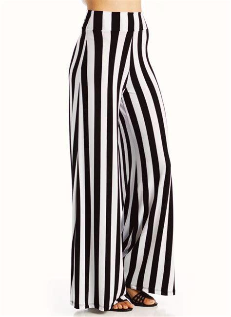 Stripe Wide black and white striped wide leg pant so
