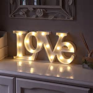 Home Decor Led Lights Warm White Led Battery Quot Love Quot Marquee Light Up Circus