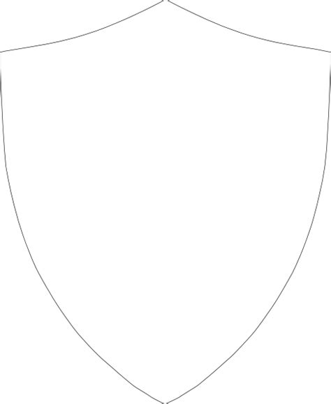 shield outline template shield outline clip at clker vector clip