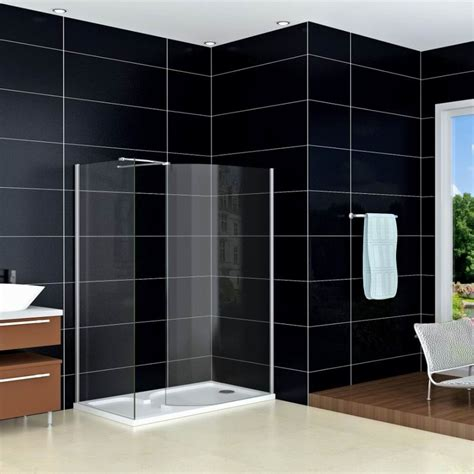 Glass Walk In Shower Doors Walk In Shower Enclosure Curved 6mm Glass Cubicle Screen Side Panel Tray Ebay