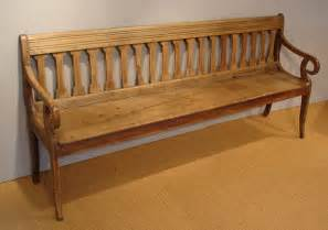 Antique Oak Hall Seat Late Regency Bench Seat Antique