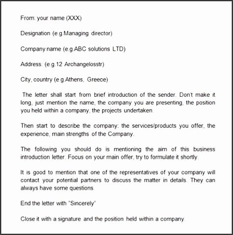 Introduction Letter New Business Exle 7 prospective introduction email template sletemplatess sletemplatess