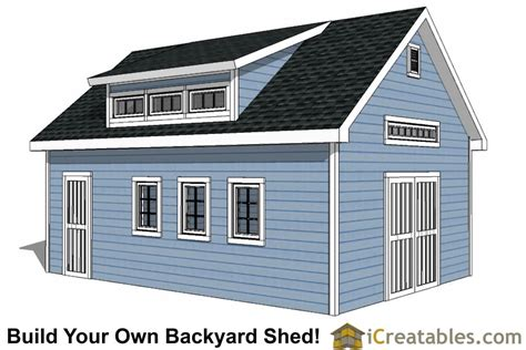 14x16 shed plans with dormer icreatables 16x24 shed plans with dormer icreatables