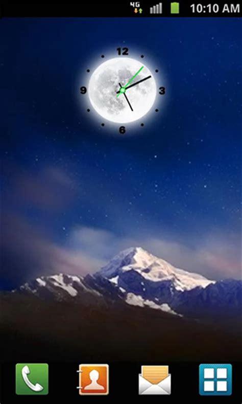 telecharger themes clock moon clock pour android 224 t 233 l 233 charger gratuitement fond d