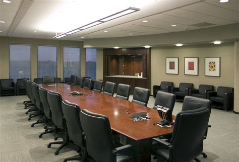 board room leopardo construction completes 105 000 square foot build out of komatsu s new american