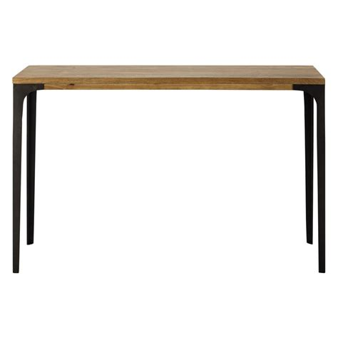 wood and metal console table metal and solid mango wood console table w 120cm