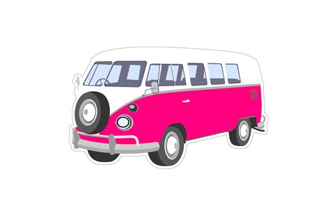 volkswagen van with surfboard clipart image gallery hippie vw bus cartoon