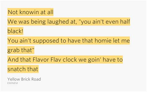 eminem yellow brick road lyrics not knowin at all we was being laughed at yellow