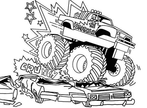 bigfoot monster truck coloring pages coloring pages