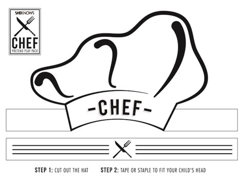chef hat template printable printable chef hat template vastuuonminun