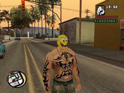 the gta place spongebob face mask mod
