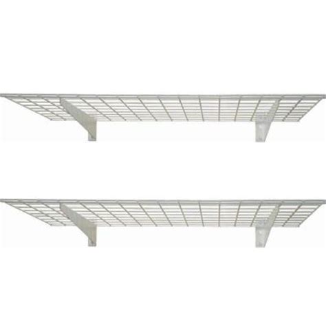hyloft 48 in x 24 in 2 shelf wall storage shelves 00630