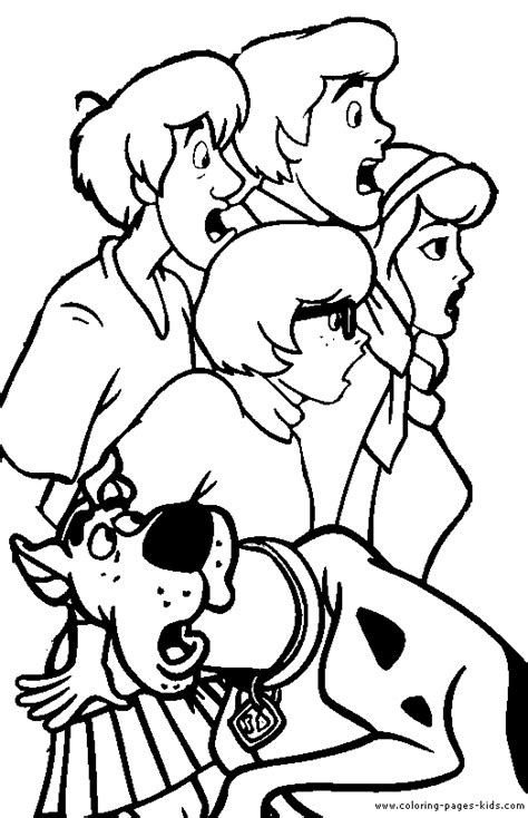 Scooby Doo Color Page Cartoon Color Pages Printable Scooby Doo Characters Coloring Pages