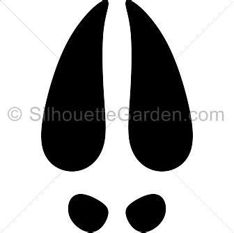 printable reindeer hoof prints reindeer hoof prints silhouette clip art download free