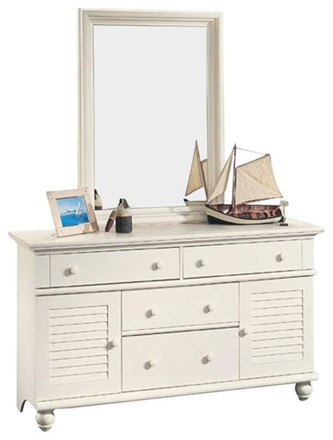sauder harbor view bedroom set sauder harbor view dresser and mirror set in antiqued