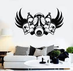 Wall Stickers Graffiti Vinyl Wall Decal Graffiti Artist Skull Gas Mask Stickers