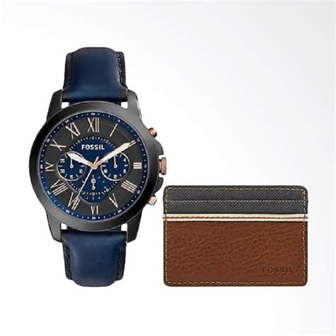 Jam Tangan Fossill Set Tanggal jual fossil s chronograph grant leather wallet