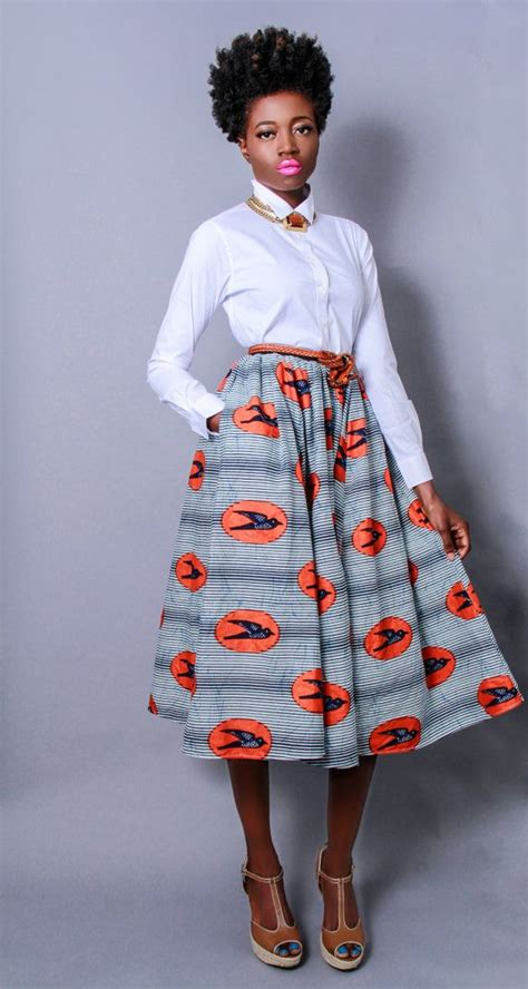 latest skirt and blouse fashion styles 100 pictures new the shavon african print 100 holland wax cotton midi