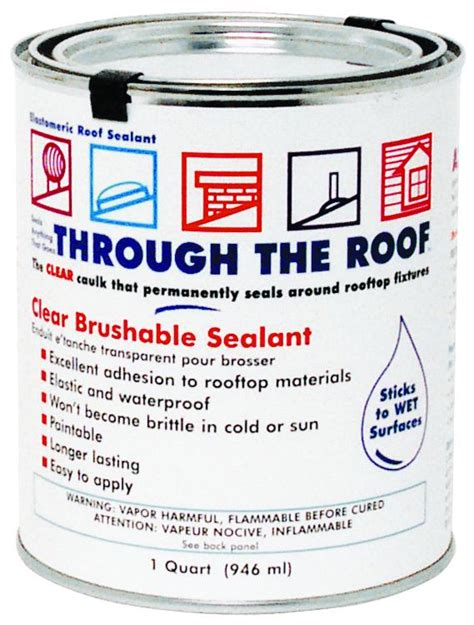 Shed Roof Sealant by Sashco Sealants 14003 Qt Clear Roof Sealant At Sutherlands